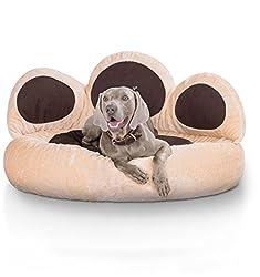 Knuffelwuff 12751 Pfoten Hundebett Luena - Größe S - M, 80 cm, beige