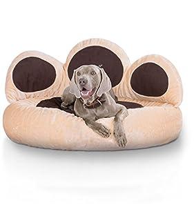 Ein großes Traumbett für Ihren Hund.  Das Bett ist ein absoluter Blickfang, unglaublich weich gepolstert, hat einen sehr angenehmen Bezug und ist absolut Formstabil.  Marke: Knuffelwuff  Modell: Luena  Farbe: Braun/Beige (siehe Produktfoto)   Größe: ...