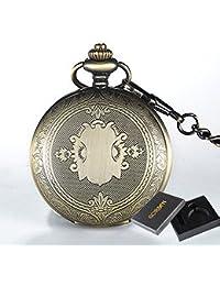 ShopyStore With Box Retro Classic Roman Numerals Quartz Pocket Watch Fob Chain Fashion Simple Styi