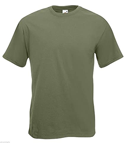 Fruit of the Loom Super Premium T in Classic Olive Size XXL (SS10)