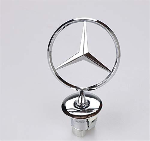 llfaith Mercedes-Benz Motordeckel Stern Kapuze 3D Logo Emblem Emblem (Silber)