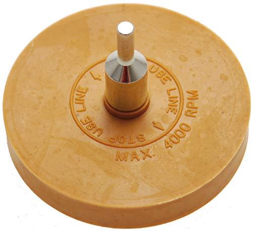 BGS 3999 | Folienradierer | Ø 90 mm | inkl. Adapter | für Bohrmaschinen, Akku-Schrauber, Geradschleifer