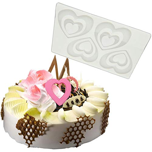 8dc15d916 Cake Molds - Diy 3d Love Heart Silicone Chocolate Mold Bakeware Birthday  Cake Cookie Decorating Mould