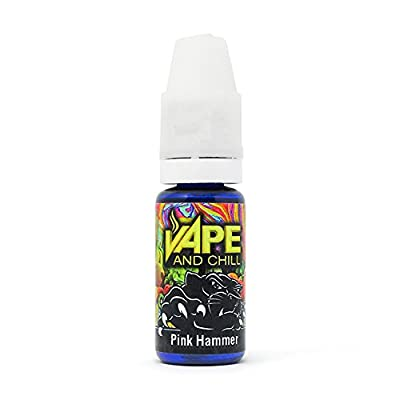 E Cigarette Liquid Pink Hammer (Mixed Fruits) Non-Nicotine Vaping Juice by Vape and Chill 70-30 VG-PG (10ml Plastic Bottle) from Vape and Chill
