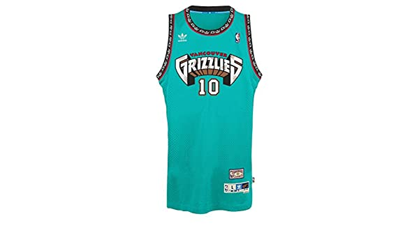 b0a79fbc9f3 Mike Bibby Vancouver Grizzles Adidas NBA Throwback Swingman Jersey - Teal:  Amazon.co.uk: Clothing