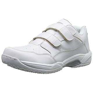 Adtec Men's Uniform Athletic Velcro Shoes, White, 12 W US