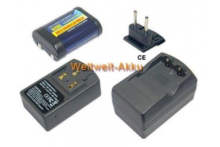 PowerSmart® Ladegeräte für Nikon COOLPIX 4300, COOLPIX 4500, COOLPIX 4800, COOLPIX 5000, COOLPIX 5400, COOLPIX 5700, COOLPIX 775, COOLPIX 8700, COOLPIX 880, COOLPIX 885, COOLPIX 995, COOLPIX E880, F50, F50D, 2CR5, DL245 (1 Ladegerät + 1 Akku)