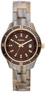 Fossil Damen-Armbanduhr XS Stella Analog Plastik ES3094