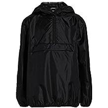 Kids Black Raincoat Age 5 Years Cag In A Bag Lightweight Cagoule Mac
