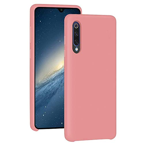 Pacyer Funda Compatible con Xiaomi Mi 9, Ultra Suave TPU Gel de Silicona Case Protectora Suave Flexible teléfono Absorción de Impacto Elegante Carcasa Compatible Xiaomi Mi 9 Se (Rosa, Mi 9)