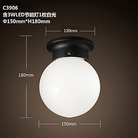 QWER Il Nordic palla sferica balcone wc kitchen è entrato il cancello nel portale celeste è piccolo ,C3906 luce a soffitto