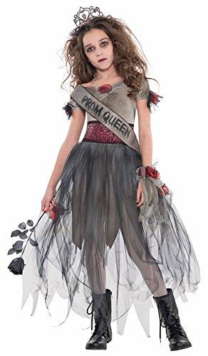 Das Kostümland Dunkle Zombie Schönheitskönigin Moria - 14 bis 16 Jahre (Halloween Tote Prom Queen Kostüm)
