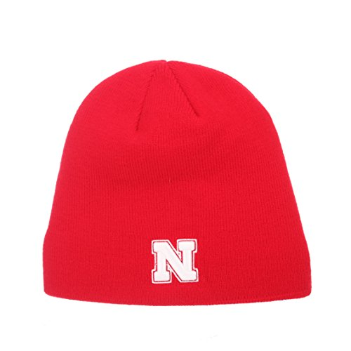 p - NCAA Ohne Winter Knit Beanie Toque Hat, Nebraska Cornhuskers - Red ()
