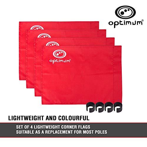 OPTIMUM Optimales Training Eckfahnen (4Stück)–Rot, Unisex, Training, rot