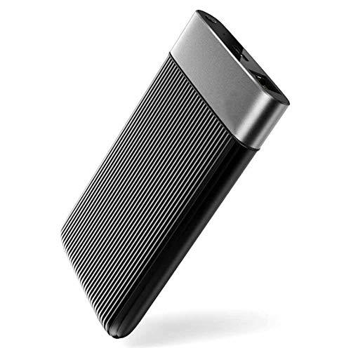Externe Festplatten 2,5 Zoll Metall Mini Mobiles Solid-State-Laufwerk WiFi-Cloud-Disk für den Remote-Zugriff per Mobiltelefon 135 * 80,2 * 17 mm (1TB, Black 1)