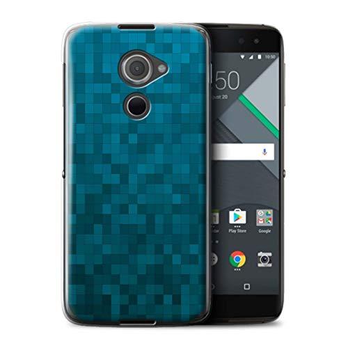 Stuff4® Hülle/Case für BlackBerry DTEK60 / Blauer Tiger Muster/Pixelmuster Tarnung Kollektion