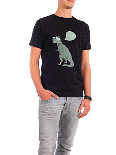 """Design T-Shirt Männer Continental Cotton """"Rawr"""" - stylisches Shirt Tiere Kindermotive von Anna Grape Schwarz"""
