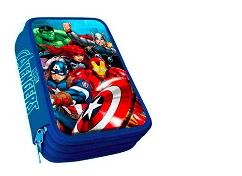 Marvel Avengers Hulk Thor Captain America Iron Man 3-FÄCHER 44 Teile FEDERMAPPE FEDERTASCHE ETUI GEFÜLLT mit Sticker von kids4shop