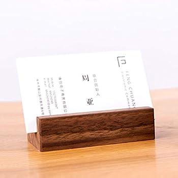 Aufbewahrungsbox aus Holz f/ür B/üro//Schreibtisch Visitenkartenhalter//Kartenetui