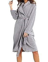 Juleya Mujeres Albornoz Cálido Sexy Pijamas Mujeres Inicio Vestido Largo Batas de baño Kimono Pijamas Mujeres