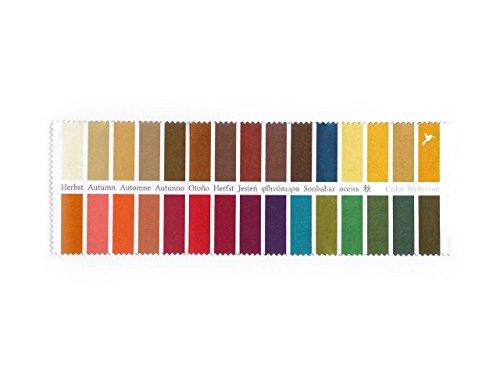 Stoff-Farbpass für Farbtyp Herbst als Brillenputztuch mit 30 typgerechten Farben zur Farbanalyse, Farbberatung, Stilberatung (Farben Herbst)