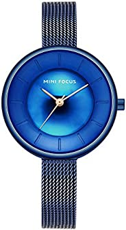 Mini Focus Womens Quartz Watch, Analog Display and Stainless Steel Strap - MF0331L.04