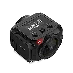 Garmin VIRB 360-Degree Rugged Waterproof Camera with 5.7K Resolution and 4K Spherical Stabilisation, Black