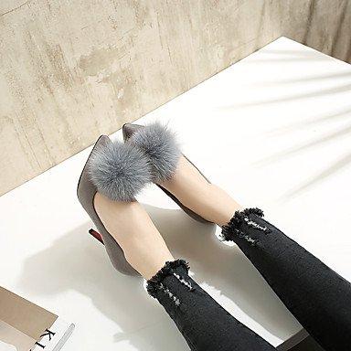LFNLYX Talons pour femmes Printemps Eté Automne Hiver Autres similicuir Bureau et carrière Robe de soirée et soirée Stiletto Heel Noir Rouge Gris Black