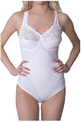 Body donna contenitivo modellante coppa D MADE IN ITALY in cotone e microfibra Nero