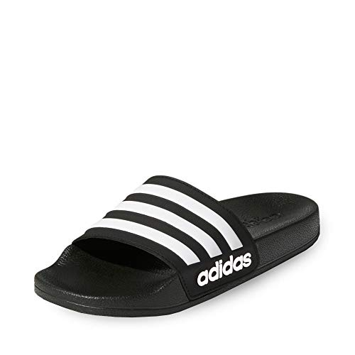 adidas Performance Adilette Shower Badesandale Kinder schwarz/weiß, 2 UK - 34 EU - 2.5 US