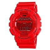 Lemumu Jj1012 Digitale Armbanduhr 5 ATM Wasserdicht Männer Uhren Outdoor Sport Uhr mit Kalender, Alarm, Stoppuhr Hintergrundbeleuchtung Woche Schwarz