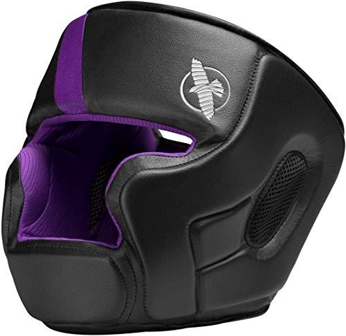 Hayabusa T3 MMA und Box-Kopfbedeckung, für Damen und Herren, schwarz/violett, Einheitsgröße -