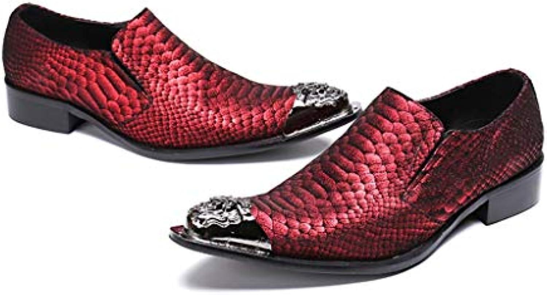 Mr.Zhang's Art Art Art Home Men's scarpe Scarpe da Uomo Scarpe Rosse Scarpe a Punta | Bella apparenza  6d5ed6