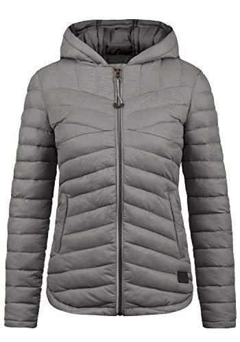 DESIRES Quella Damen Steppjacke Übergangsjacke Jacke Mit Kapuze, Größe:M, Farbe:Castlerock (9486) -
