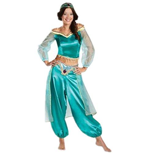 xiemushop - Disfraz de Princesa Arabe Para Mujer Traje de bailarina Cosplay Halloween Talla M