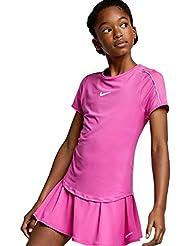 sale retailer e19f0 75b1f Nike G NKCT Dry Top, T-Shirt Bimba, Active Fuchsia White, S
