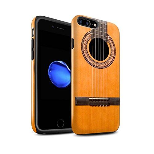 Stuff4® Glanz Harten Stoßfest Hülle/Case für Apple iPhone 8 Plus/Holz Akustische Muster/Gitarre Kollektion (E-gitarren Case Harte)