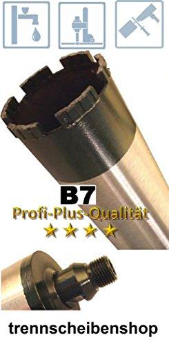 BKK-07_Diamantbohrkrone Bohrkrone Ø 160 mm, NL= 400 mm, Aufnahme R 1/2 Zoll, (AG), Lasergeschweißte Turbo Segmente 8 mm Stahlbeton, Betonprodukte, Naturstein, Mauerwerk,