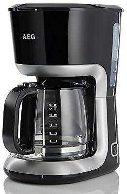 AEG perfec tmorning ewa3300Bouilloire (2200W, 1,7L, double affichage du niveau d'eau, Filtre anti-calcaire et amovible, bec verseur antigoutte, arrêt automatique, sans BPA) Noir