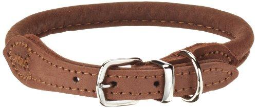hundeinfo24.de Karlie Halsband Buffalo aus Leder, rund, Länge 32 cm, Breite 6 mm