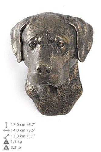Labrador Retriever, Hund, Bronze, Statue an der Wand, hängen, Limitierte Edition, Art Dog