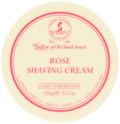 TAYLOR OF OLD BOND STREET Rasiercreme Rose, 150 g Rose Bowl