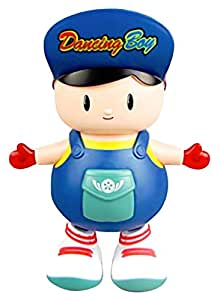 Zest 4 Toyz Bump and Go Electric Dancing Boy Cute Music Light Toy, Dancing Toy, Battery Operated Toy,Kids Baby Electric Toys with Light and Music (Multicolor)