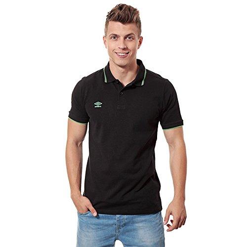Umbro Umbro Tipped Pique, Polo Shirt Herren, schwarz/grün - Herren Tipped Pique Polo