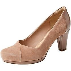Clarks Chorus Carol, Zapatos de Tacón para Mujer, (Beige Combi), 40 EU
