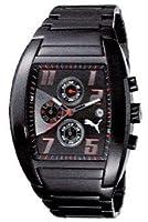 Puma Time Indication A.PU101051003 - Reloj para Hombres, Correa de Acero Inoxidable Chapado Color Negro de Puma Time