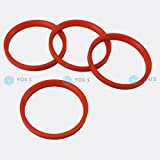 4 X ANELLI DI CENTRAGGIO anelli distanziatori per CERCHI IN LEGA 76,0 - 66,6 mm MAK TSW