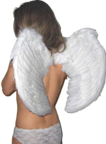 Engel Flügel 60 x 50 Dessous Fasching weiße Karneval Verkleidung (Bösen Kind Kostüm Mit Flügeln)