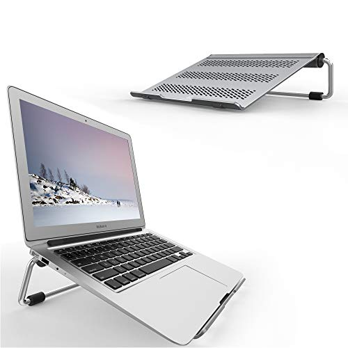 """Lamicall Laptop Stand, Ventilated Laptop Holder: Adjustable Desktop Riser Compatible with 10"""" ~ 17"""" Notebooks, like new 2018 Dell XPS, HP, Lenovo - Gray"""