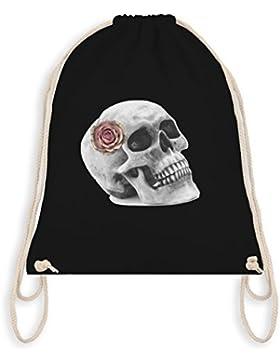 Rockabilly - Totenkopf Rose Vintage Skull - Turnbeutel I Gym Bag